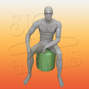 4107 manequim masculino sentado