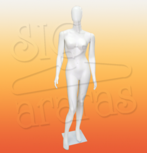 4303 manequim feminino pose reta branco