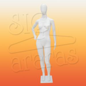 4310 manequim feminino pouse mão na cintura branco K56c
