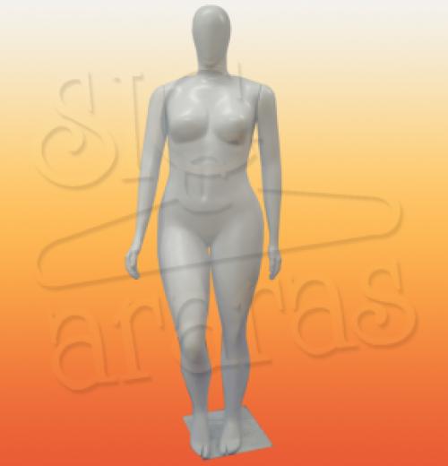 4321 manequim feminino plus size pouse reta Branca