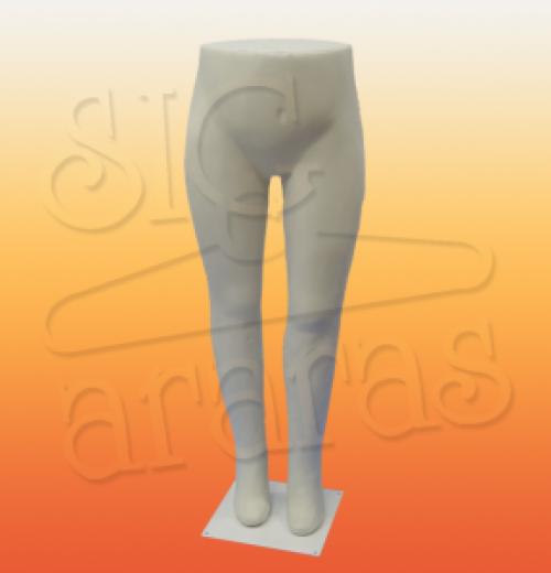 4325 expositor calça feminino plus size branco