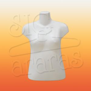 4327 busto feminino plus size branco