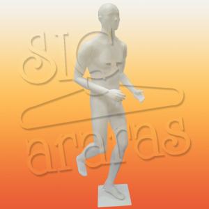4410 manequim masculino corredor branco