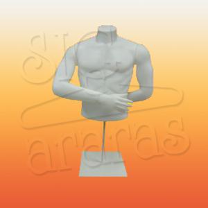 4414 busto masculino com braços branco