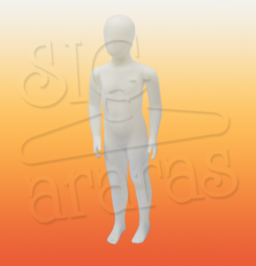 4504 manequim infantil masculino articulado branco