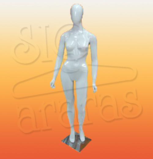 4601 manequim feminino especial com brilho pouse reta branco