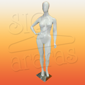 4602 manequim feminino especial com brilho pouse mao cintura branco