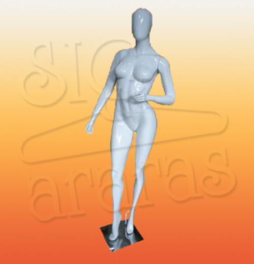 4606 manequim feminino especial com brilho fitness branca