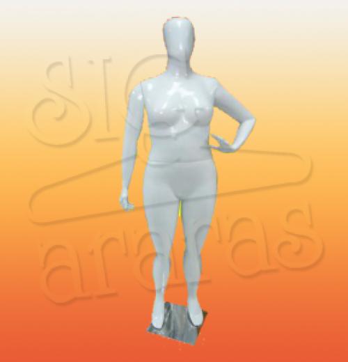 4610 manequim especial com brilho plus size mão na cintura branca