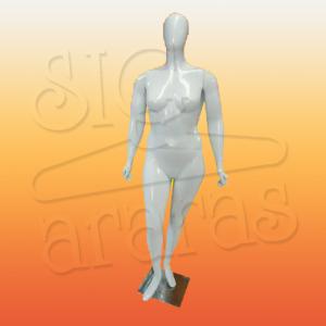 4611 manequim feminino especial com brilho esbelta branca