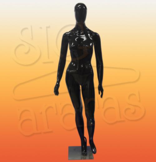 4615 manequim feminino especial com brilho pouse preto