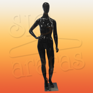4616 manequim feminino especial pouse mão cintura preto