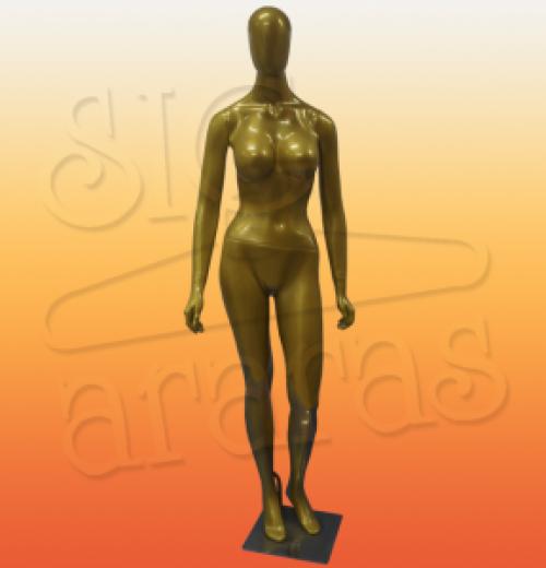 4617 manequim feminino especial com brilho pouse dourado