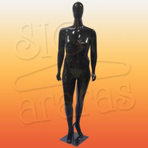 4619 manequim feminino especial com brilho esbelta preta