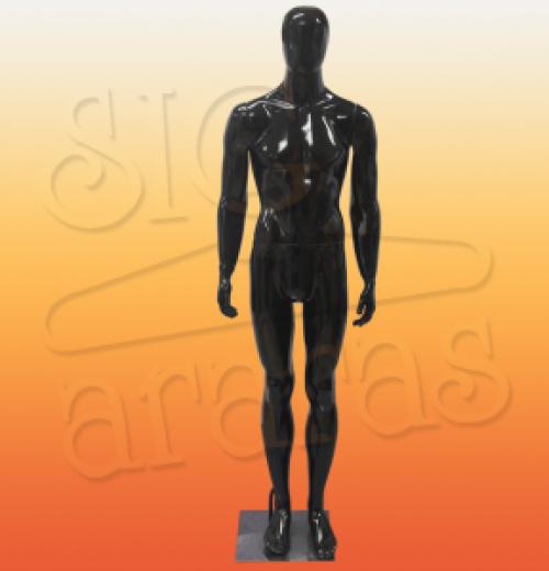 4621 manequim masculino especial com brilho preto