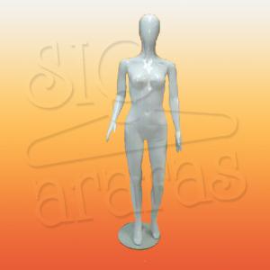 4701 manequim feminino com brilho pouse reto branco