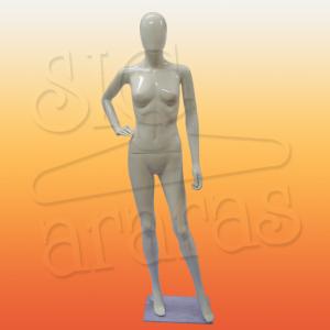 4702 manequim feminino com brilho pouse mão na cintura branco