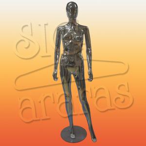 4711 manequim feminino pouse reto metalizado