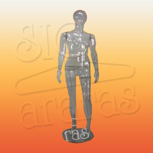 4713 manequim feminino pouse transparente plastico