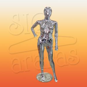 4714 manequim feminino pouse mão na cintura metalizado