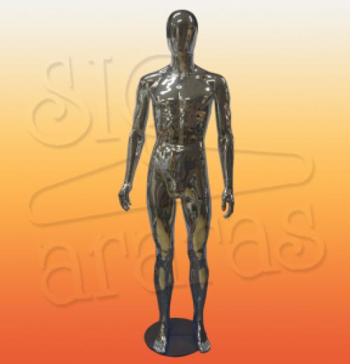 4715 manequim masculino metalizado