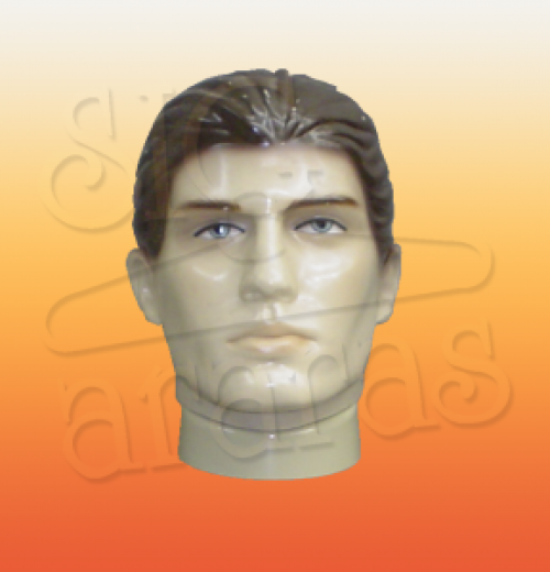 4808 cabeça masculina moldado