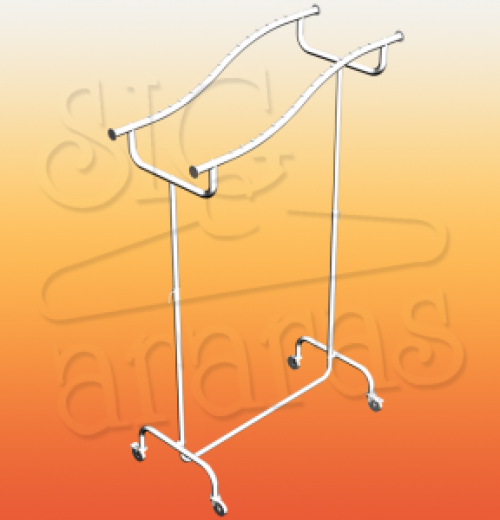6019 arara desfile P30 dupla S vertical cromada