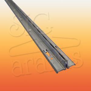 6316 cremalheira de aluminio simples com 18mm e 15mm x 255cm