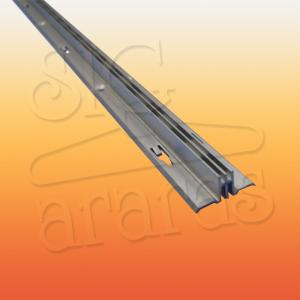 6317 cremalheira de aluminio dupla com 18mm e 15mm x 255cm