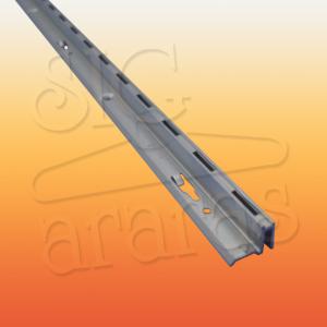 6318 cremalheira de aluminio canto direito com 18mm e 15mm x 255cm