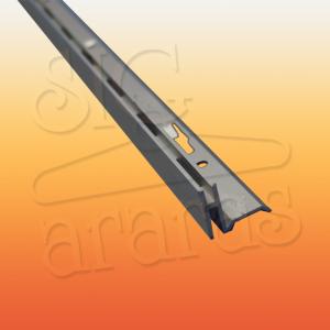 6319 cremalheira de aluminio canto esquerdo com 18mm e 15mm x 255cm