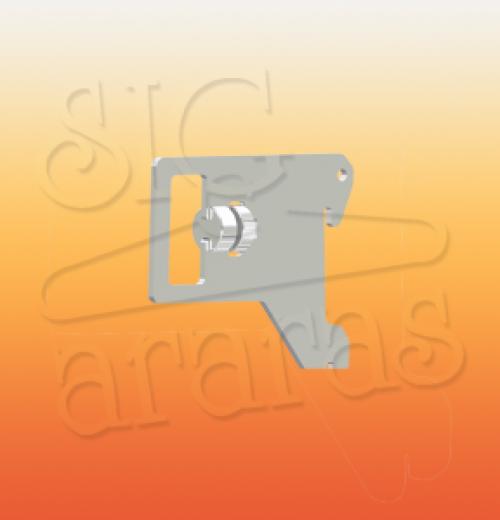 6341 suporte p barra 5cm cremalheira e tubo 35x35