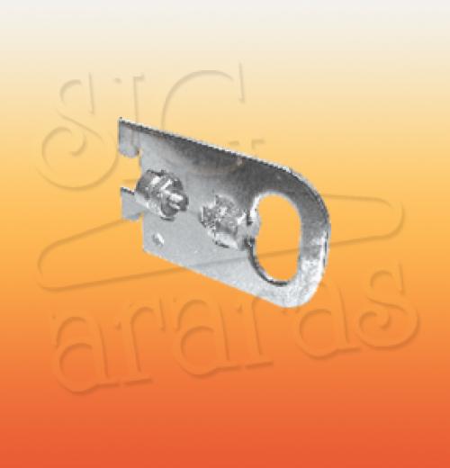 6412 suporte de 10 cm barra e cremalheira meio slot