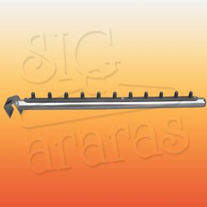 6626 rt inclinado para régua simples cromado