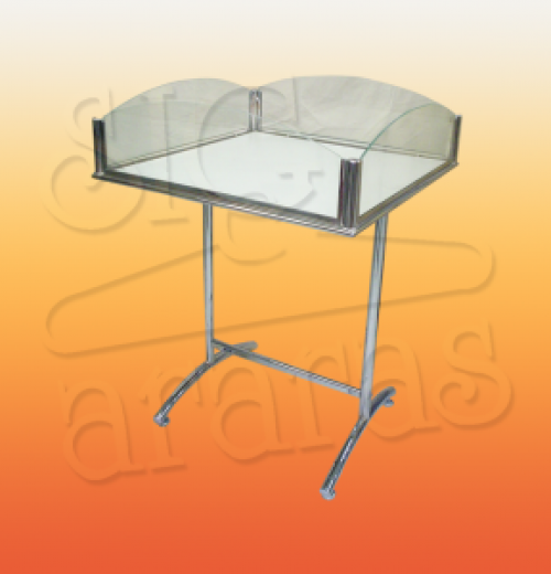 7503 banca especial 60x70 cromada lateral de vidro tubo 1 e 1.4 300x300