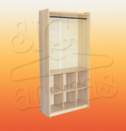 7643 armário colméia arara F90X30X185 MK02 300x300